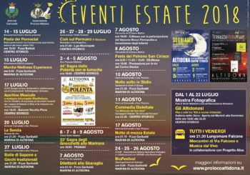 CALENDARIO EVENTI ESTIVI 2018