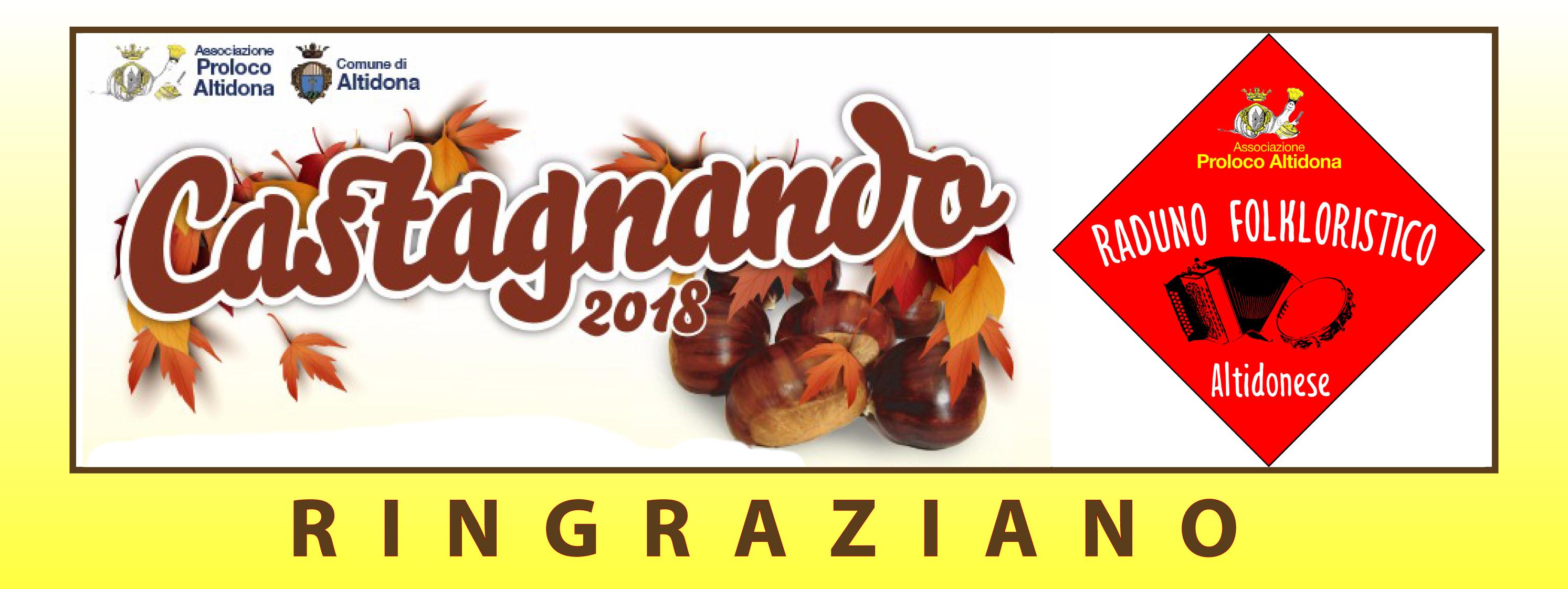 RINGRAZIAMENTI CASTAGNANDO 2018
